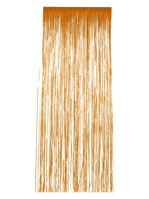 Shimmer Curtain, Orange, 91x244cm / 36x96in