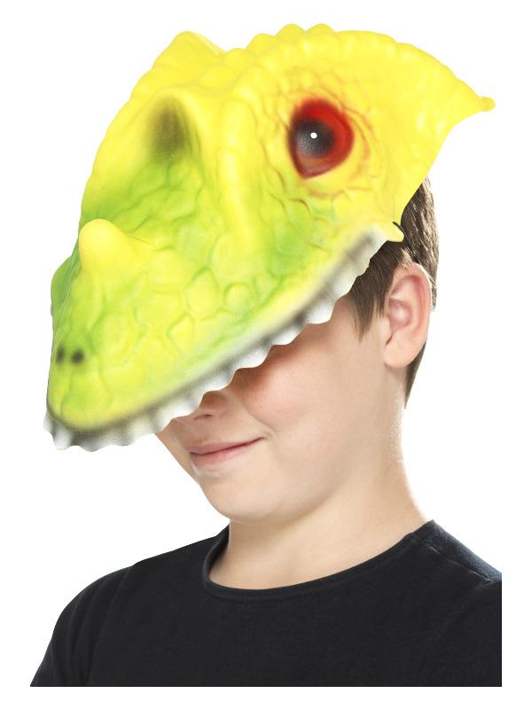 Crocodile Head Mask, Green & Yellow, EVA