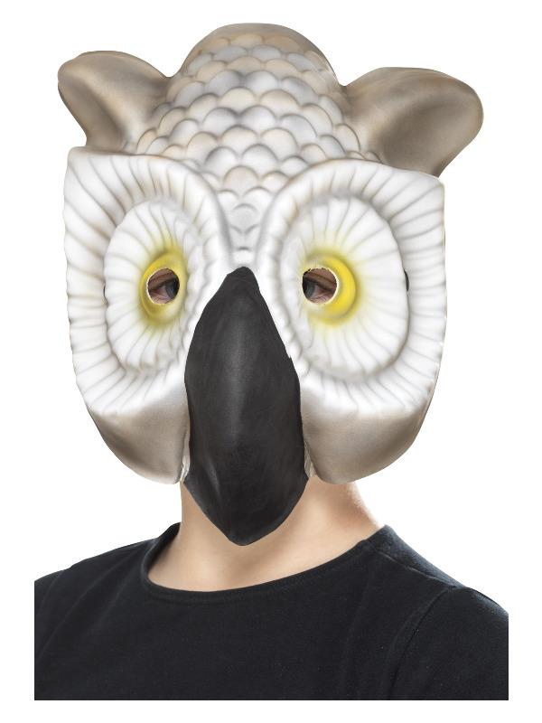 Owl Mask, Grey & White, EVA