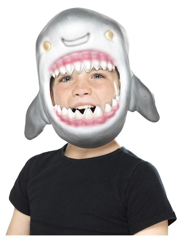 Shark Full Head Mask, Grey, EVA