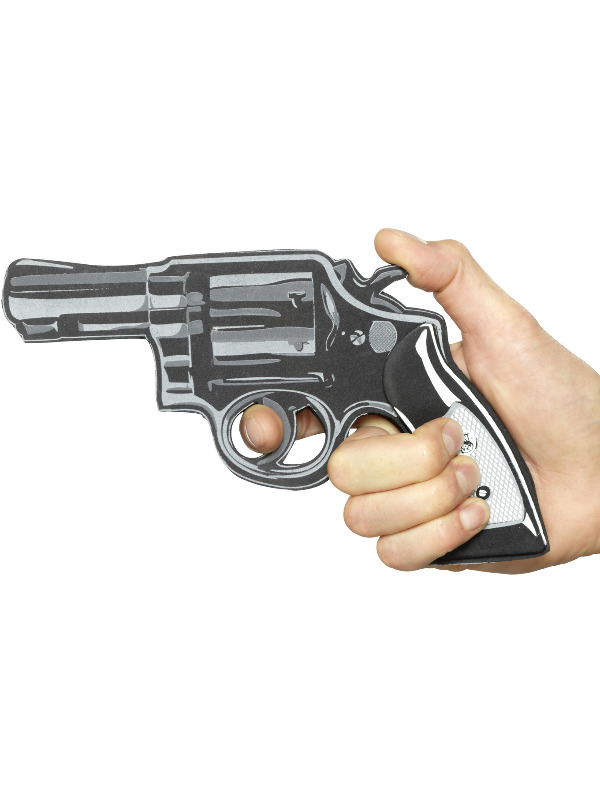 Cartoon Pistol Gun, Black, EVA
