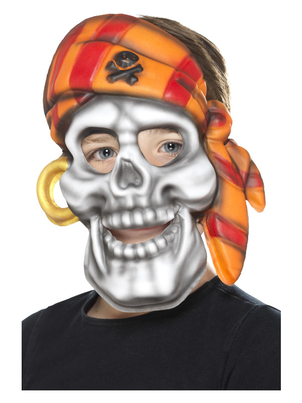 Pirate Skull Mask, Multi-Coloured, EVA