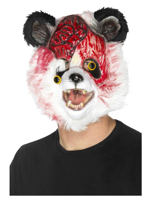 Zombie Panda Mask, Black & White, EVA, with Fur