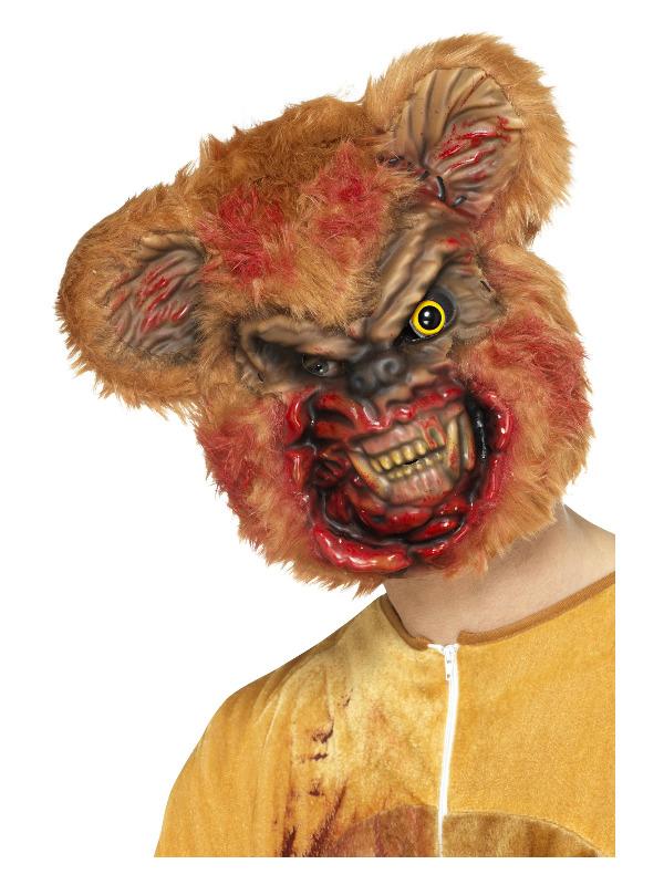 Zombie Teddy Bear Mask, Brown, EVA, with Fur