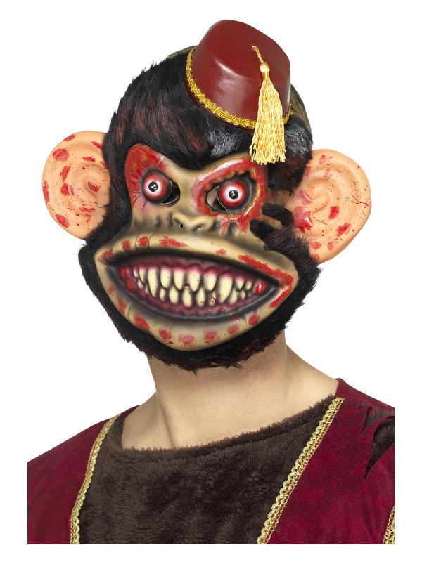 Zombie Toy Monkey Mask, Brown, EVA, with Fur