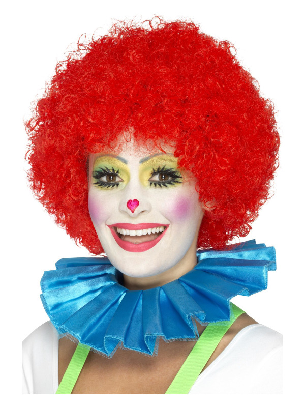 Clown Neck Ruffle, Blue