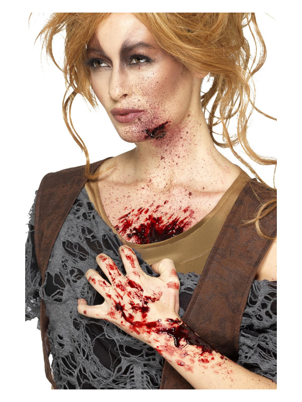 Smiffys Make-Up FX, Scab Blood, Dark Red, Dries Realistic, 25g