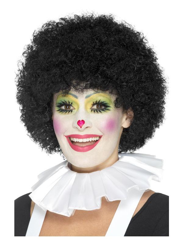 Clown Neck Ruffle, White