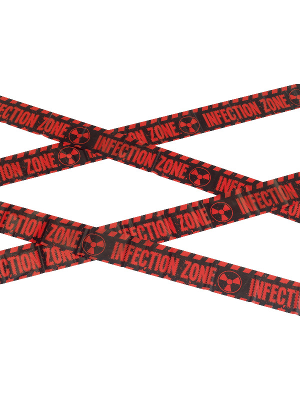 Zombie Infection Zone Caution Tape, Red & Black, 6m / 236in
