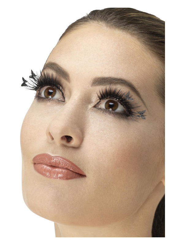 Eyelashes, Winged Butterfly, Black, Contains Glue