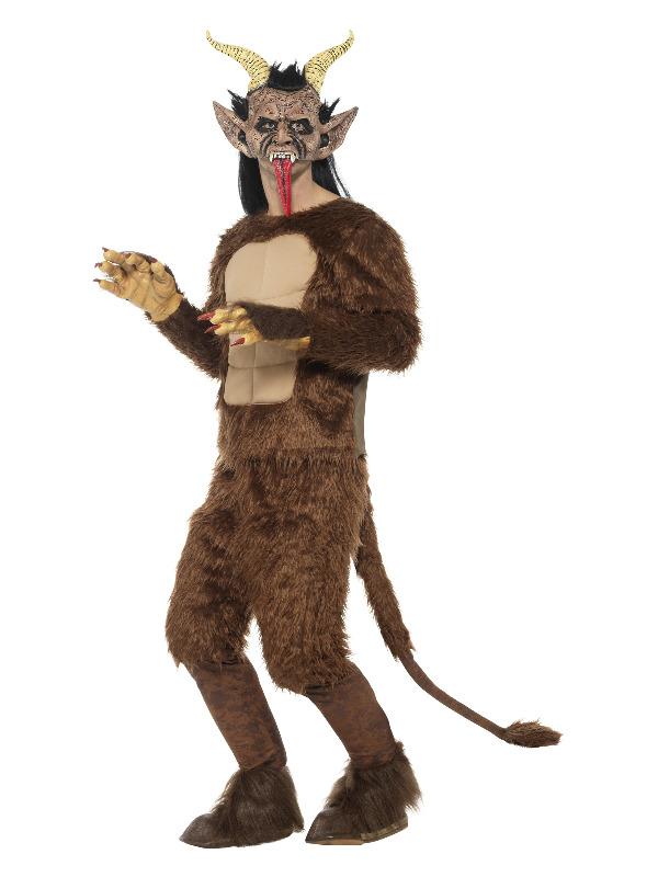 Beast / Krampus Demon Costume, Long Pile Fur, Brow