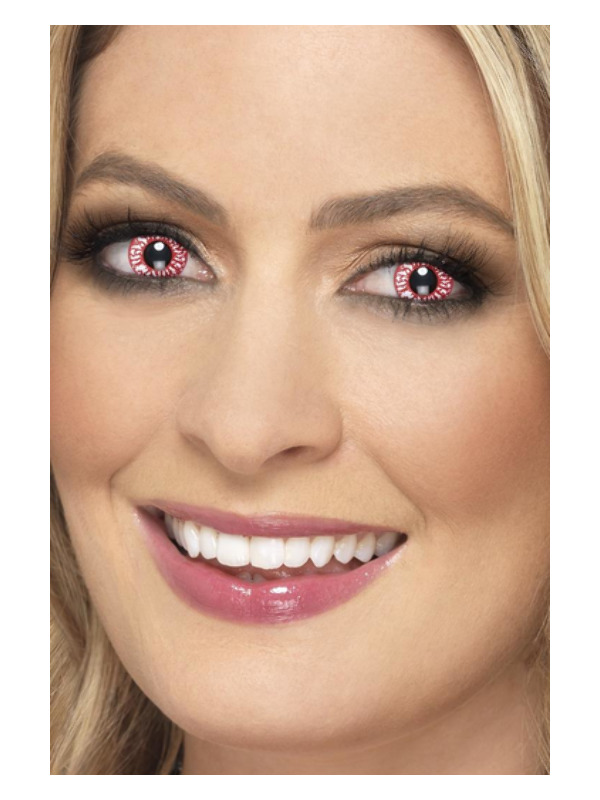 Accessoreyes Bloodshot, Red, 1 Day Wear