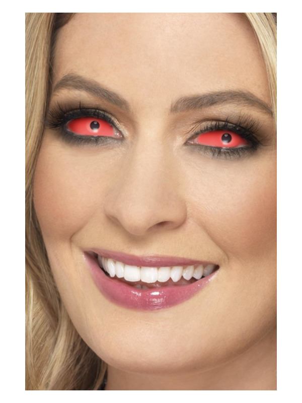 Accessoreyes Sclera Lenses, Red, 6 Months Reusable, 22mm Diameter