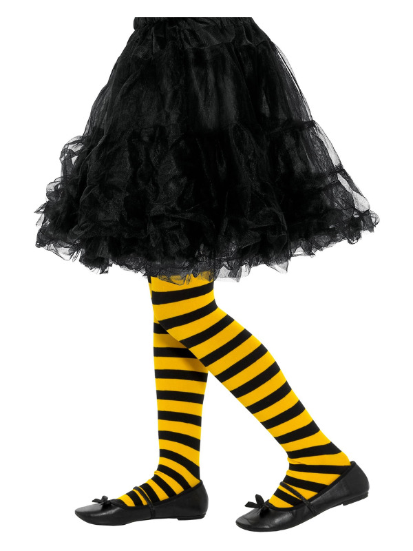 Bee Stripe Tights, Childs, Yellow & Black