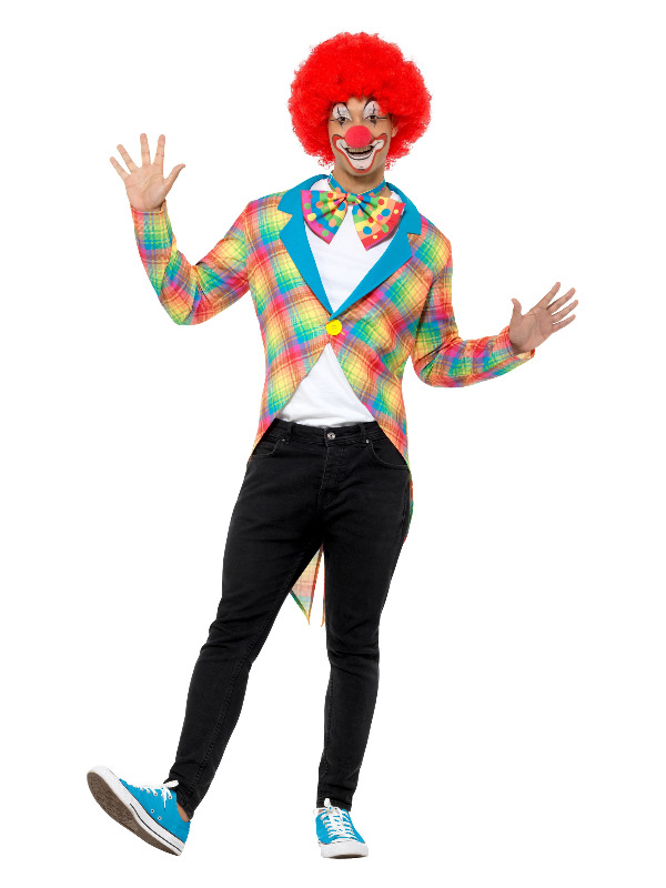 Checked Clown Tailcoat, Multi-Coloured