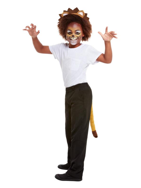 Smiffys Make-Up FX, Kids Lion Kit, Aqua, with Palette, Applicators, Headband & Tail