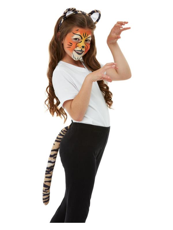 Smiffys Make-Up FX, Kids Tiger Kit, Aqua, with Palette, Applicators, Headband & Tail