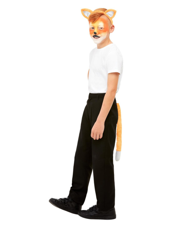 Smiffys Make-Up FX, Kids Fox Kit, Aqua, with Palette, Applicators, Headband & Tail