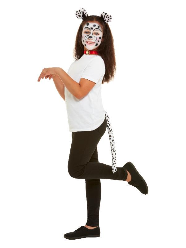 Smiffys Make-Up FX, Kids Dalmatian Kit, Aqua, with Palette, Applicators, Headband, Tail & Collar