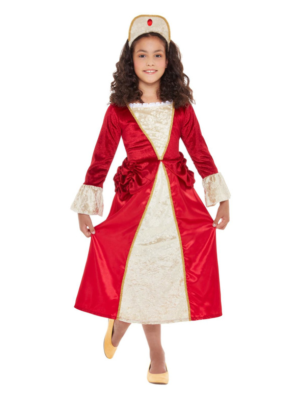 Tudor Princess Costume, Red & Gold