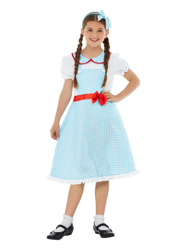 Country Girl Costume, Blue & White