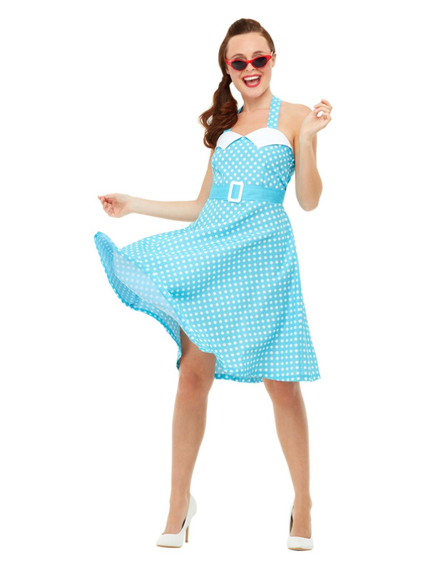 50s Pin Up Costume, Blue