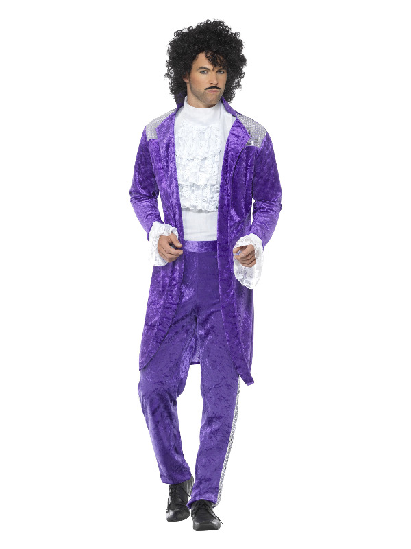 80s Purple Musician Costume, Purple