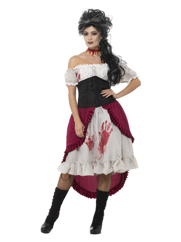 Victorian Slasher Victim Costume, Grey