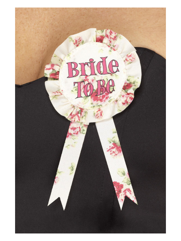 Vintage Bride to Be Rosette, Pink