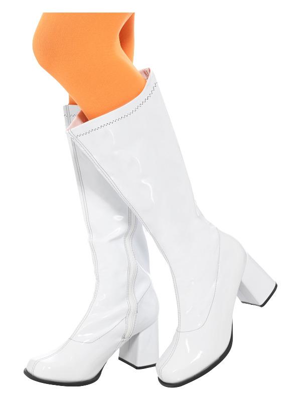 60s Ladies GoGo Boots, UK Size 4/ US 7, White