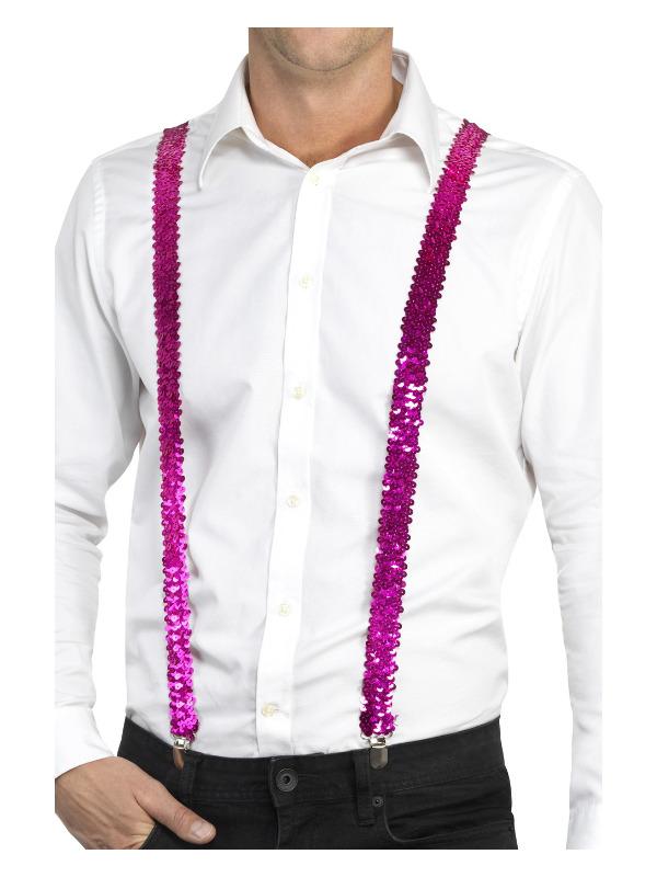 Sequin Braces, Pink