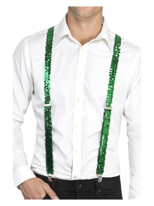 Sequin Braces, Green