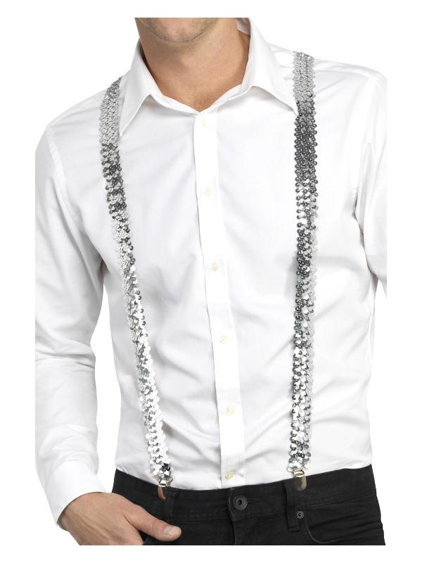 Sequin Braces, Silver