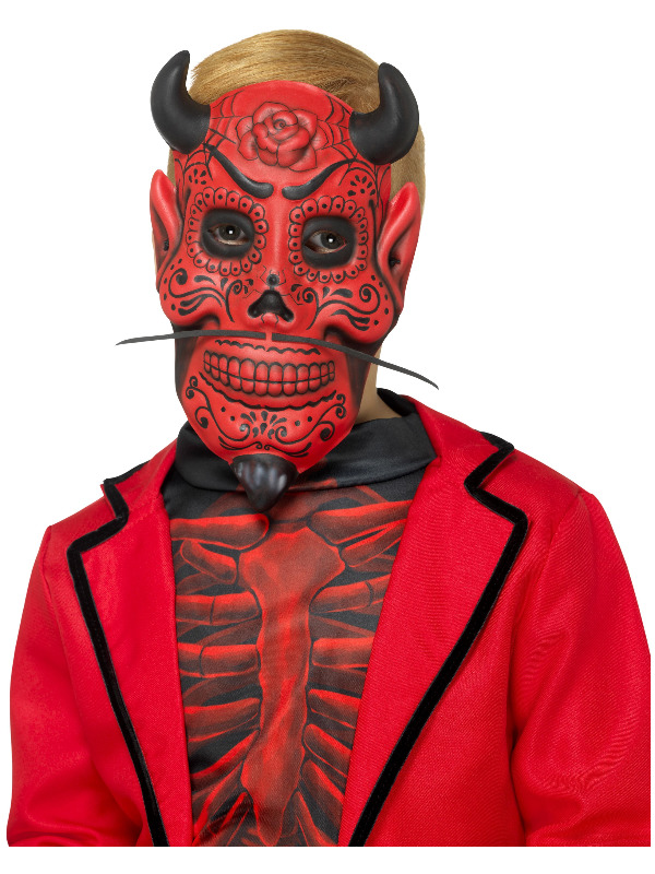 Day of the Dead Devil Mask, Childs, Red, EVA