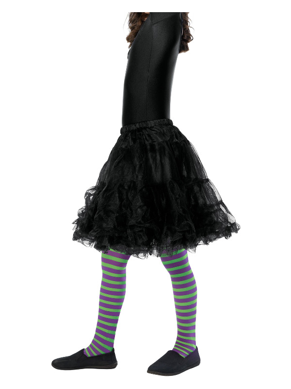 Wicked Witch Tights, Child, Purple & Green, Age 6-12