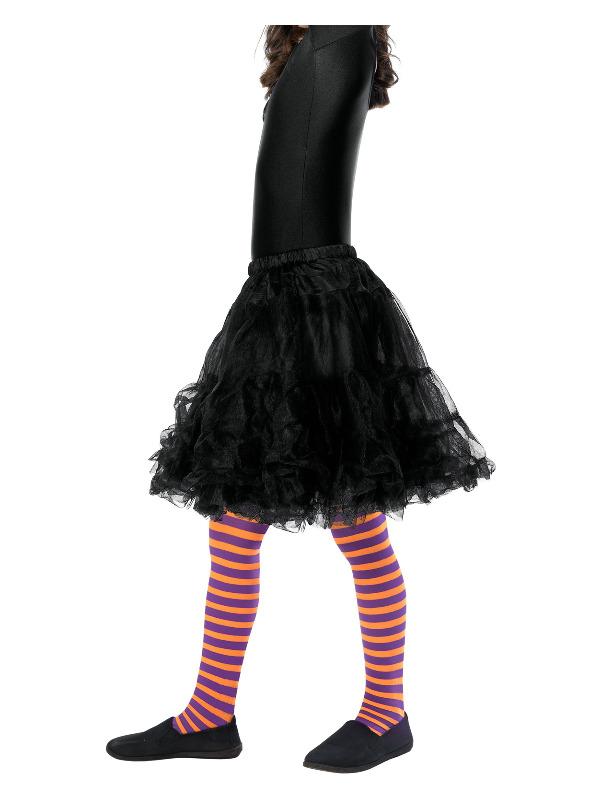 Wicked Witch Tights, Child, Orange & Purple, Age 6-12