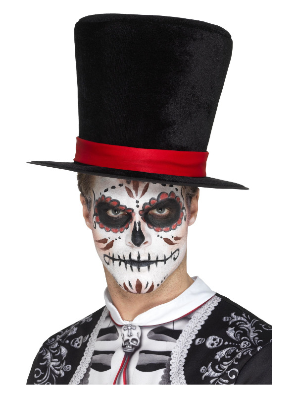 Day of the Dead Top Hat, Black