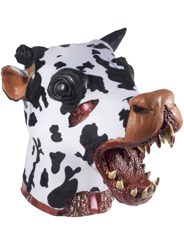 Deluxe Butchered Daisy The Cow Head Prop, Black & White, 36x32x30cm /14x13x12in