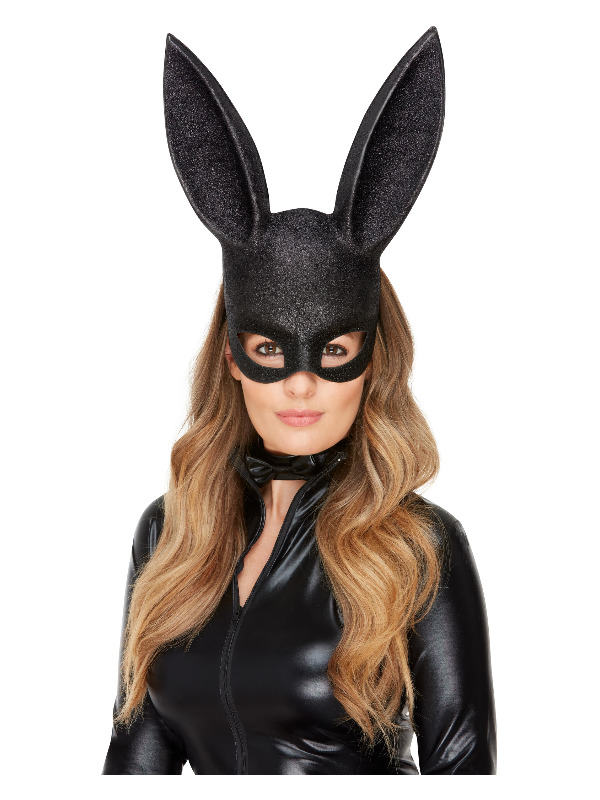 Fever Bunny Instant Kit, Black, with Mask & Collar