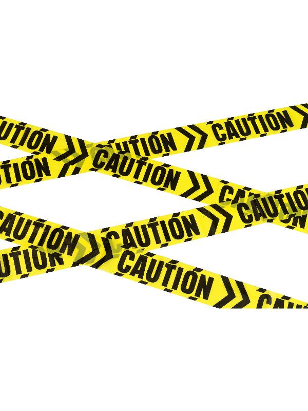Caution Chevron Tape, Black & Yellow, 6m / 236in