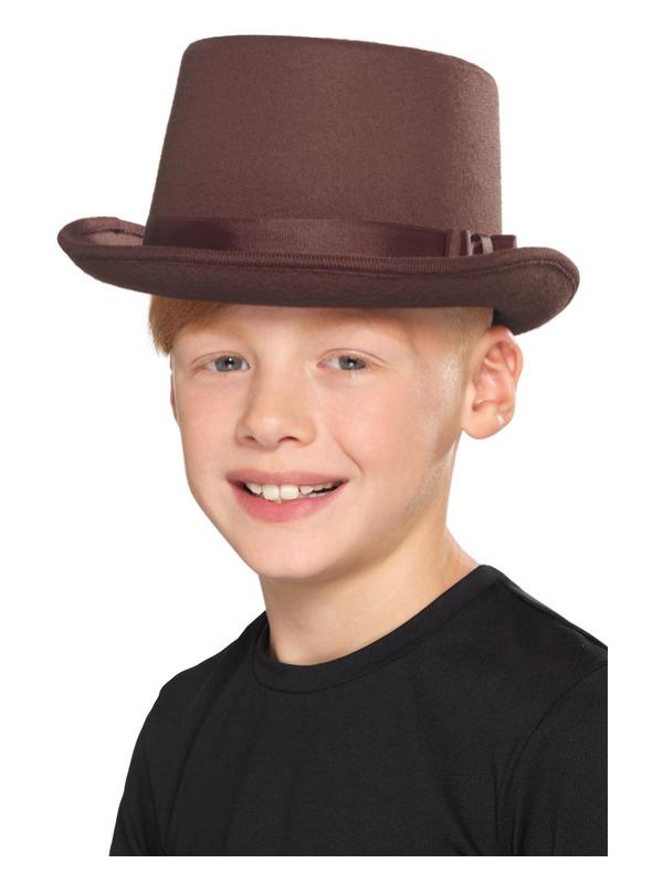 Kids Top Hat, Brown