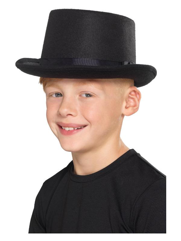 Kids Top Hat, Black