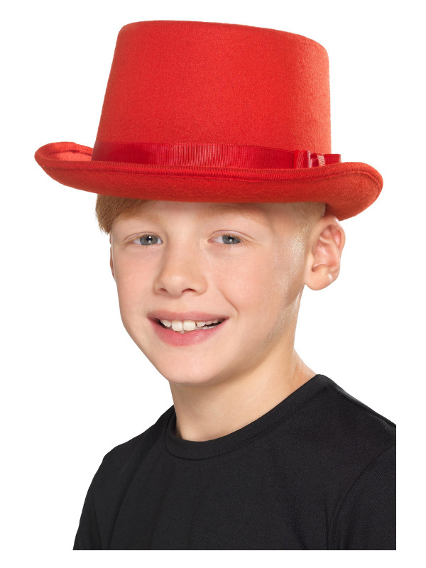 Kids Top Hat, Red