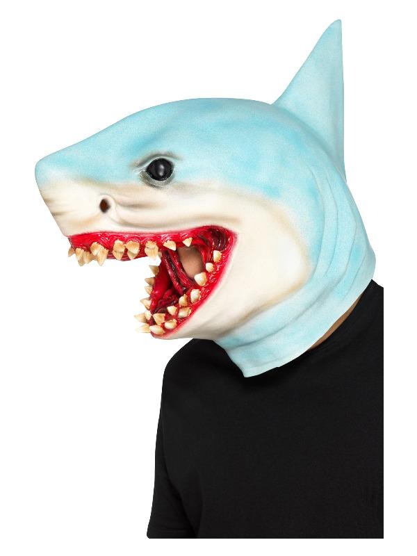 Shark Overhead Mask, Blue, Latex