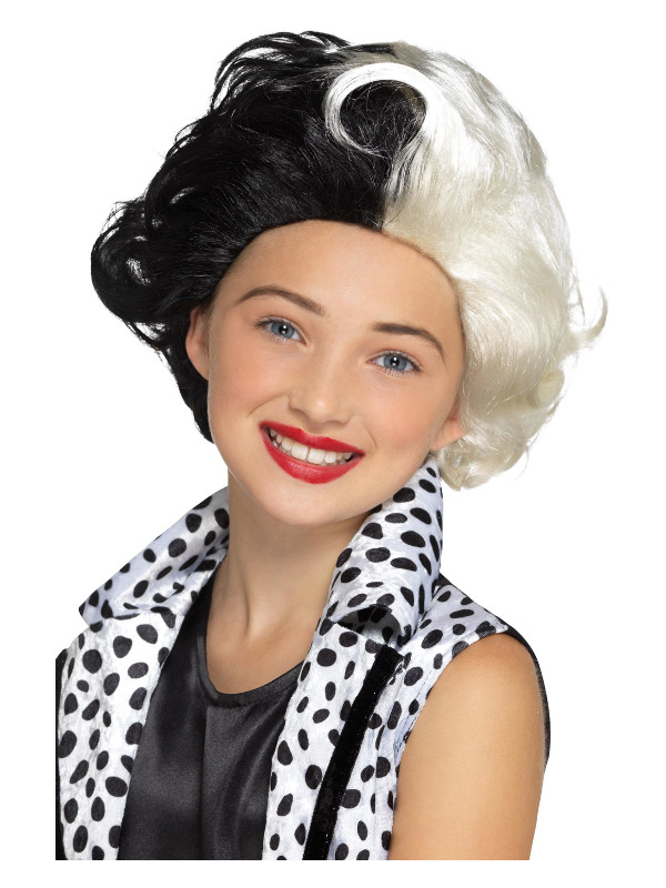 Evil Madame Wig, Black & White, Kids