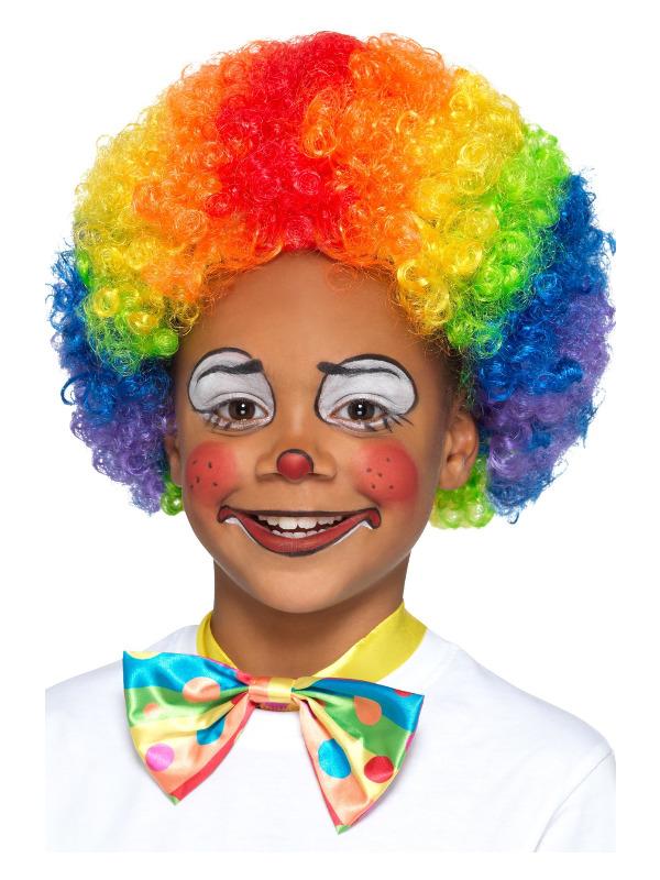 Clown Wig, Multi-Coloured, Kids