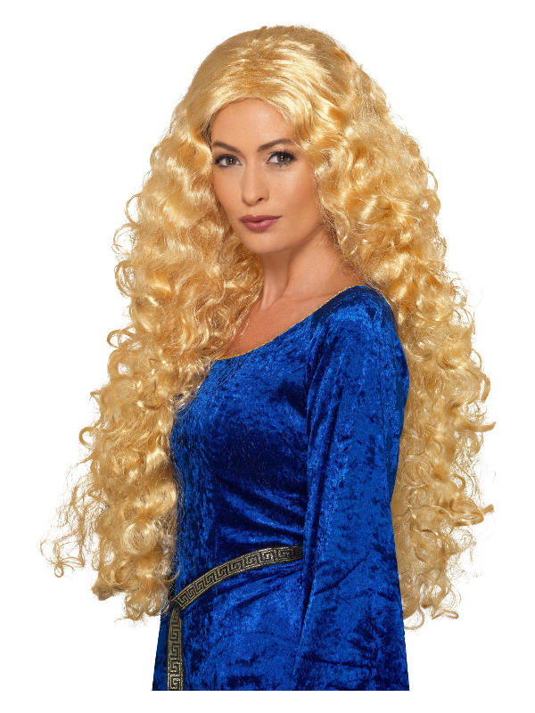 Medieval Warrior Queen Wig, Blonde, Extra Long