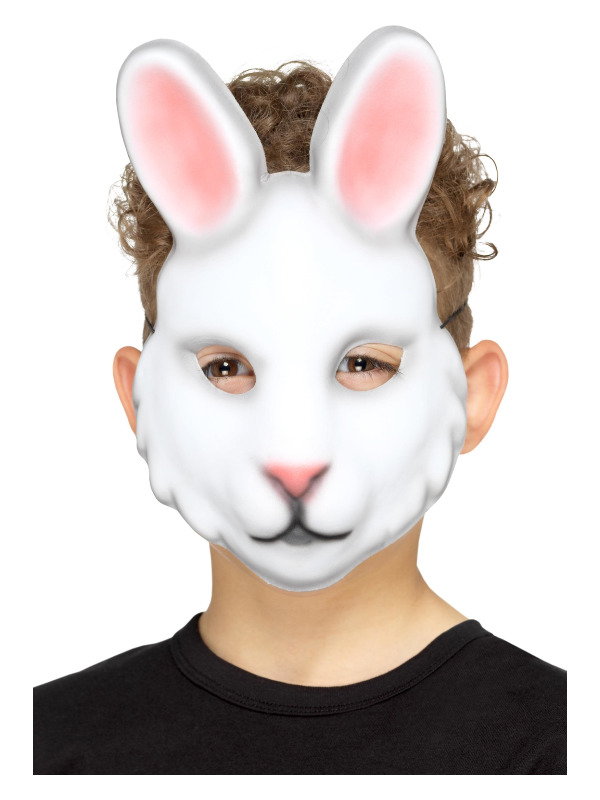 Rabbit Mask, White, Kids, EVA