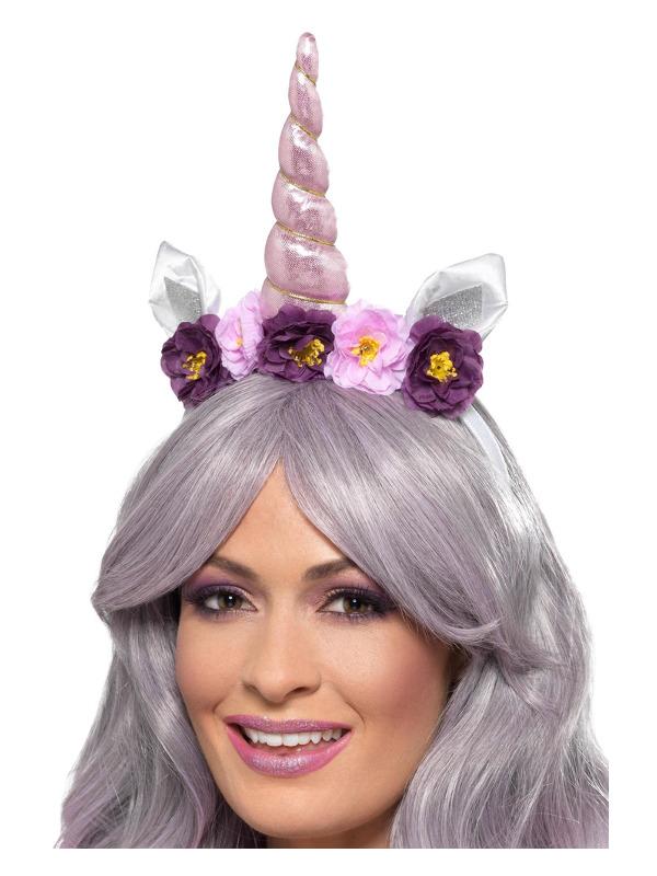Unicorn Headband, Multi-Coloured, Adult