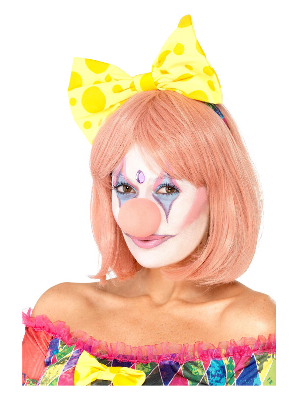 Smiffys Make-Up FX, Pretty Clown Kit, Aqua, with Facepaints, Glitter Tube, Nose, Gem & Applicators